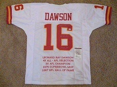 16 LEN DAWSON Kansas City Chiefs AFLNFL QB White Stats Throwback