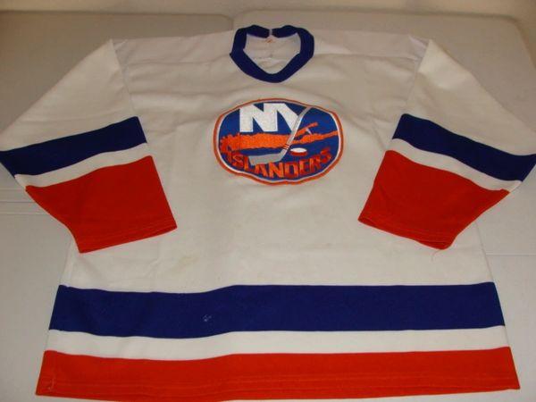 more photos f62ac 23d20 NEW YORK Islanders NHL White Throwback Team Jersey