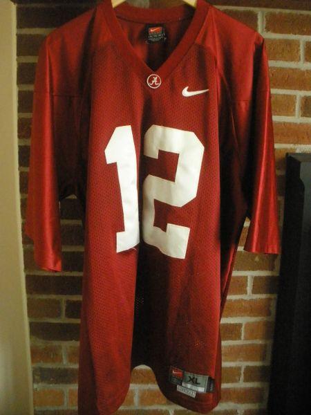 12 NAMATH STABLER Alabama Crimson Tide NCAA Football Red Throwback Jersey 1f24ed29f