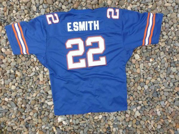 e3446d27fc5 #22 EMMITT SMITH Florida Gators NCAA RB Blue Throwback Jersey | Lone Star  Throwbacks