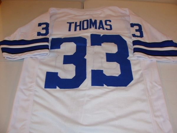 158058d1895 #33 DUANE THOMAS Dallas Cowboys NFL RB White Throwback Jersey | Lone Star  Throwbacks