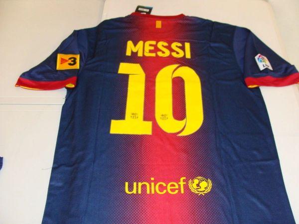 541d1614705 #10 LIONEL MESSI FC Barcelona La Liga Forward Blue/Red 2012/13 Mint S/S Throwback  Uniform Kit | Lone Star Throwbacks
