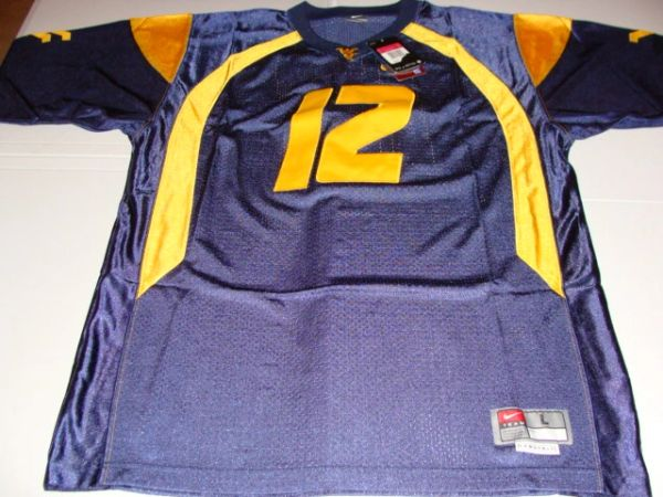 7bfe7a317  12 GENO SMITH West Virginia Mountaineers NCAA QB Blue Mint Throwback Jersey