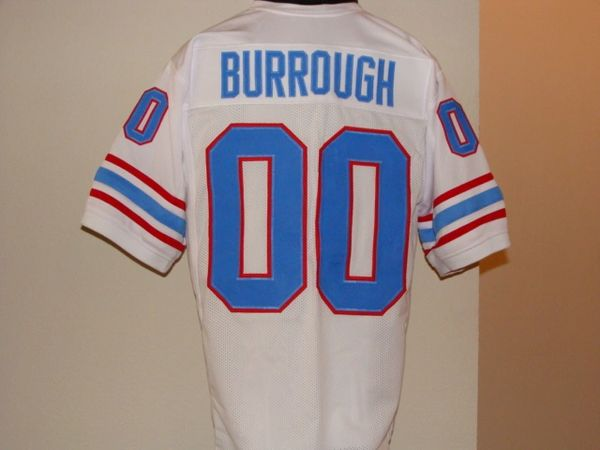 00 KEN BURROUGH Houston Oilers NFL WR White Throwback Jersey  c8c835cde