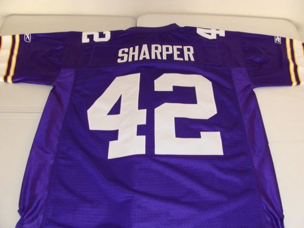 42 DARREN SHARPER Minnesota Vikings NFL Safety Purple Throwback Jersey  dde65b63e