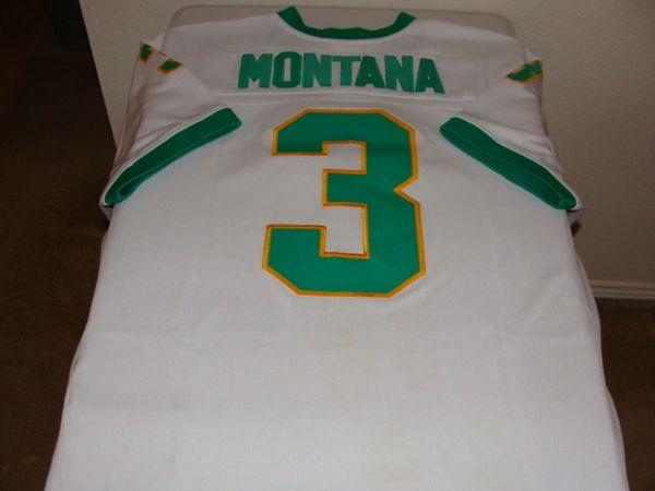 3 JOE MONTANA Notre Dame Irish NCAA QB White Throwback Jersey  353008484