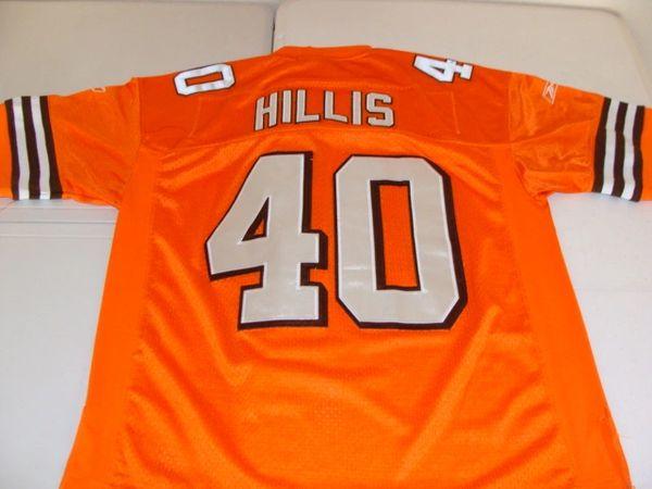 7c80b4838 40 PEYTON HILLIS Cleveland Browns NFL RB Orange Throwback Jersey ...