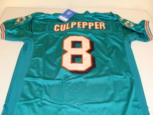 Cheap 8 DAUNTE CULPEPPER Miami Dolphins NFL QB Green Mint Throwback Jersey  for cheap