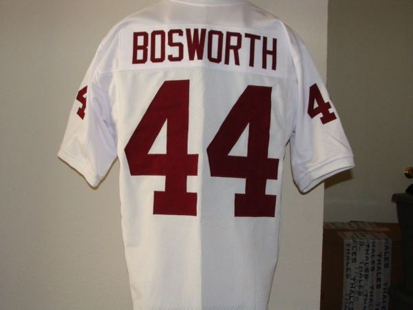 df76cbed #44 BRIAN BOSWORTH Oklahoma Sooners NCAA LB White Throwback Jersey | Lone  Star Throwbacks