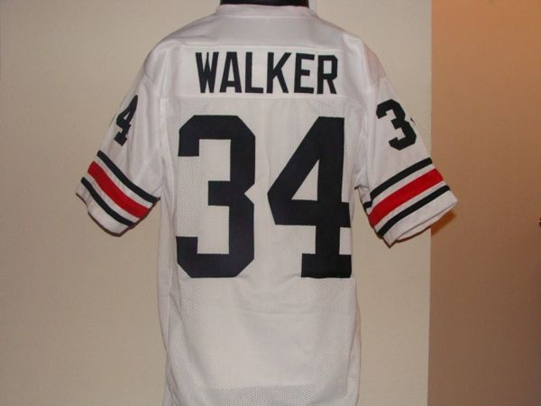 f82df2b3c39 34 HERSCHEL WALKER Georgia Bulldogs NCAA RB White Throwback Jersey ...