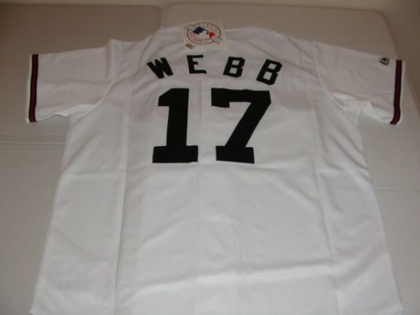 4a374c40e  17 BRANDON WEBB Arizona Diamondbacks MLB Pitcher White Mint Throwback  Jersey