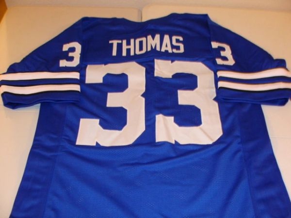 6e2d56ecf47 #33 DUANE THOMAS Dallas Cowboys NFL RB Blue Throwback Jersey | Lone Star  Throwbacks