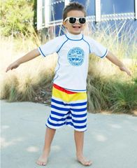 Pacific Stripe Swim Trunks