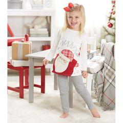 Santa Tunic and Legging Set by Mud-Pie