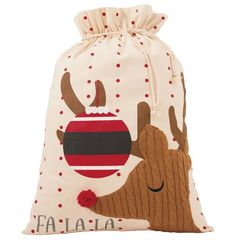 Cable Knit Gift Sack by Mud-Pie