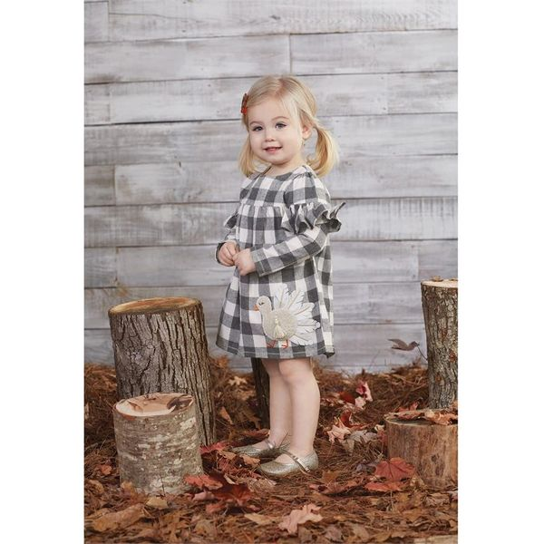 Mud-Pie Buffalo Check Turkey Dress