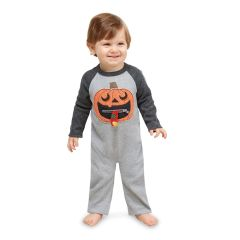 Zipper Mouth Pumpkin One-Piece by Mud-Pie