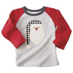 Santa Raglan T-Shirt (Mud-Pie)