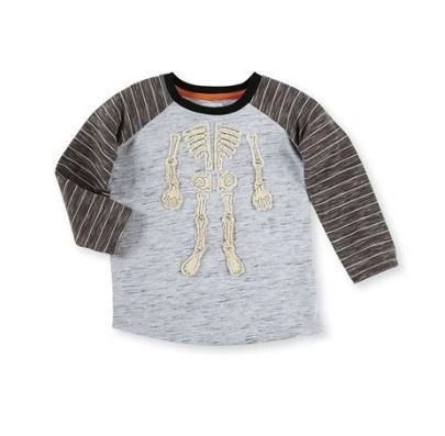 Washed Canvas Skeleton Tee by Mud-Pie
