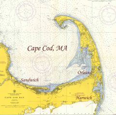 Cape Cod Bay, Massachusetts 1957 Nautical Chart