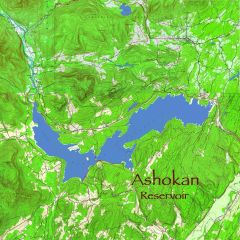 Ashokan Reservoir NY Topographic Map Shirt