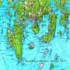 Boothbay Harbor Maine 1957 Topographic Map Shirt