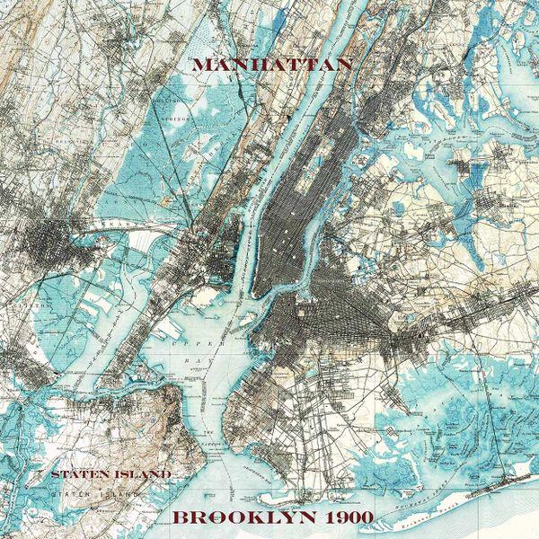 Manhattan Brooklyn Staten Island New York 1900 Topographic Map