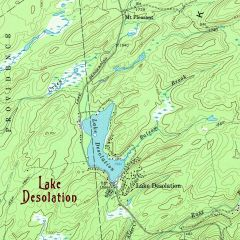 Lake Desolation New York 1968 Topographic Map Shirt