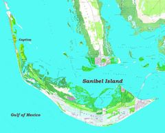 Sanibel Island, FL Topographic Map & Nautical Chart Shirt