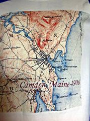 Camden Maine 1906 Topographic Map Shirt