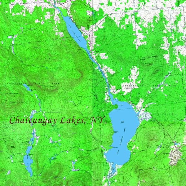 Chateaugay Lakes New York Topographic Map Shirt Topotees Wear