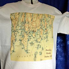Boothbay Harbor Maine 1893 Topographic Map Shirt