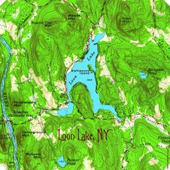 Loon Lake New York 1954 Warren County Topographic Map Shirt
