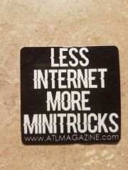 Less Internet More Minitrucks Printed sticker