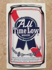 ATL printed beer can logo
