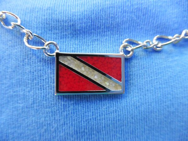 In-Line Dive Flag Pendant on Chain