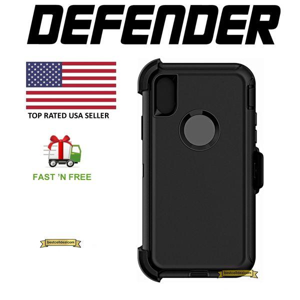 reputable site f0e39 7521f Apple iPhone X 10 Defender Case Cover (Belt Clip Fits Otterbox Defender) NIB