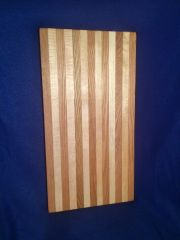 "Cutting Board 10"" by 20"" made of red oak and maple"