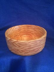 "Large Pine Bowl Measures 10.5"" across and 4.5"" deep, finished with butcher block oil and conditioner"