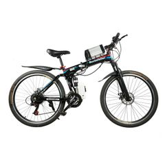 Rockefeller Folding Electric Mountain Bike with high carbon steel frame and 26'' wheels