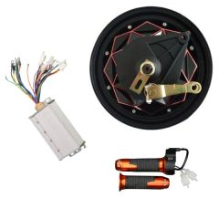 BLDC 60V 1000W 10 Inch Gearless HUB MOTOR with drum brake Scooter Kit