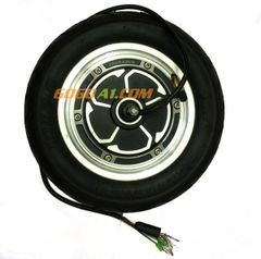 250/500W BLDC Gearless 10-inch Hub motor with Tire
