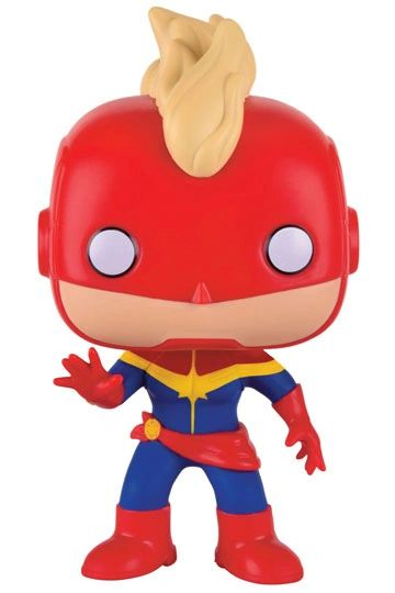 Marvel Comics POP! Marvel Vinyl Figure Captain Marvel (Masked)