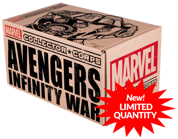 MARVEL COLLECTOR'S CORPS AVENGERS INFINITY WARS BOX LIMITED QUANITIY AVAILABLE (PRE-ORDER)