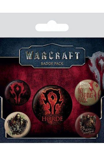 Warcraft Pin Badges 5-Pack The Horde