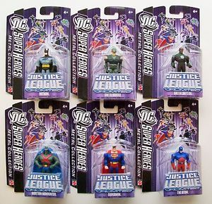 DC Super Heroes Justice League Unlimited 7cm Metal Collection Figure Set of Six
