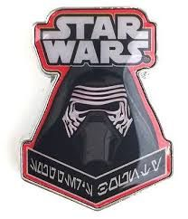 STAR WARS SMUGGLERS BOUNTY FIRST ORDER BOX EXCLUSIVE - KYLO REN PIN BADGE