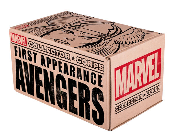 MARVEL COLLECTOR'S CORPS FIRST APPEARANCE AVENGERS BOX (BACK ORDER)