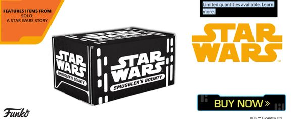 STAR WARS SMUGGLERS BOUNTY - SOLO - A STAR WARS STORY BOX (PRE-ORDER)