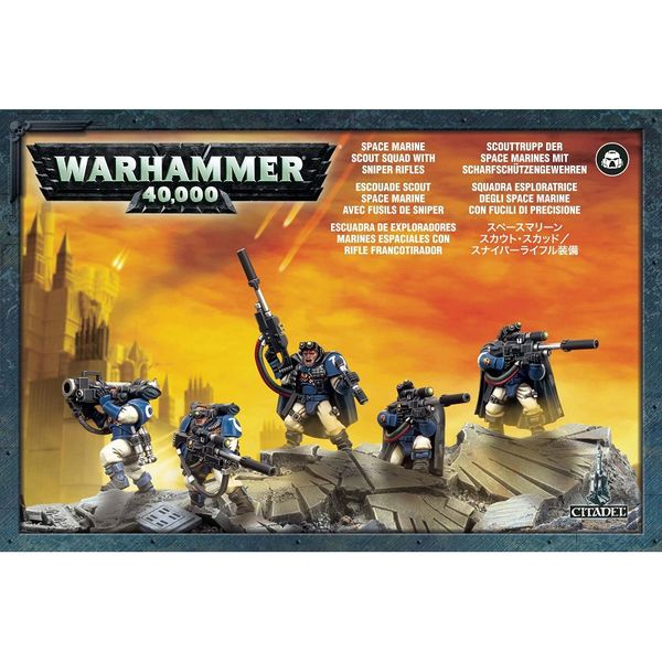 Warhammer 40k Space Marine Scouts with Sniper Rifles